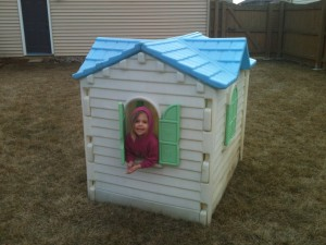 Eliana in the new playhouse